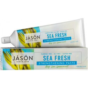 Jason Sea Fresh Strengthening Toothpaste Fluoride Free Spearmint 170g