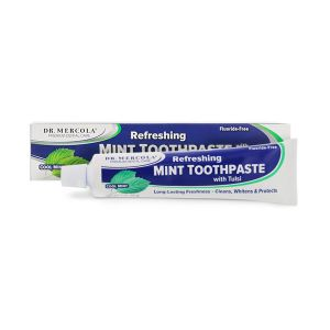 Dr Mercola Toothpaste with Tulsi Cool Mint Fluoride Free 85g