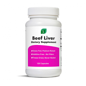 Organic 3 Grass Fed Freeze-Dried Beef Liver 120 Capsules