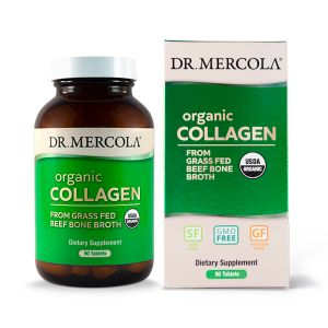 Dr Mercola Organic Collagen from Grass Fed Beef Bone Broth 90 Tablets
