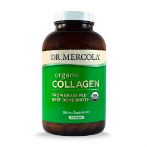 Dr Mercola Organic Collagen from Grass Fed Beef Bone Broth 270 Tablets
